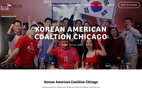 Screenshot of Home Page kac-chicago.org - KACC (Korean American Coalition - Chicago) - captured Oct. 15, 2018