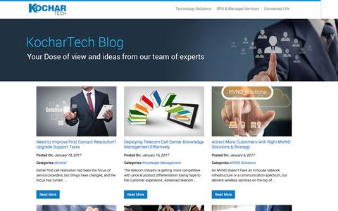 Screenshot of Blog kochartech.com - KocharTech Blog - - captured Jan. 18, 2017