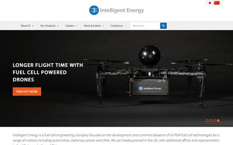 Screenshot of Home Page intelligent-energy.com - Home | Intelligent Energy - captured Aug. 23, 2018