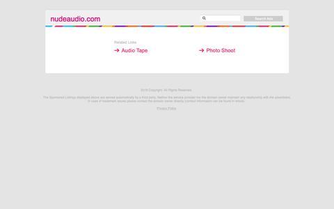 Screenshot of Home Page nudeaudio.com - nudeaudio.com - captured Nov. 23, 2018