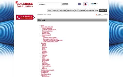 Screenshot of Site Map Page civilsandlintels.co.uk - Site Map - - captured Sept. 30, 2014