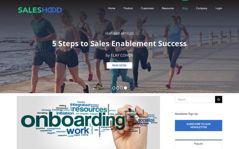 Sales Productivity Best Practices - SalesHood Blog