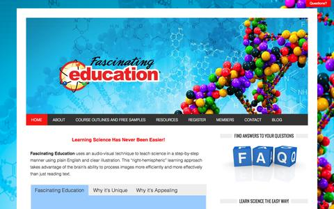 Screenshot of Home Page fascinatingeducation.com - Fascinating Education – - captured Sept. 30, 2014