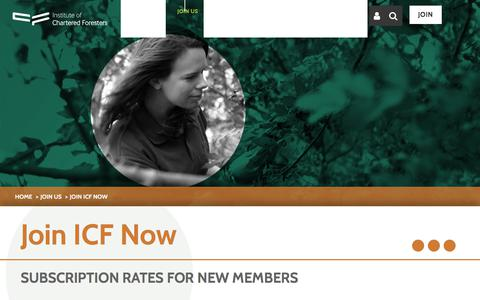 Screenshot of Signup Page charteredforesters.org - Join Now | Institute of Chartered Foresters - captured Oct. 15, 2017