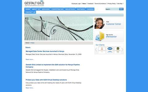 Screenshot of Press Page gestaltgild.com - News - GESTALT GILD : CRAFTED ENTERPRISE SOLUTIONS - captured Oct. 2, 2014