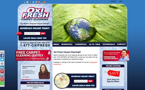 Screenshot of Contact Page oxifresh.com - 1-877-OXIFRESH | Oxi Fresh - captured Oct. 26, 2014