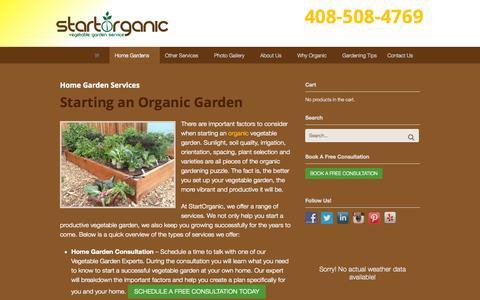 Screenshot of Services Page startorganic.org - Home Garden Services - StartOrganic - captured Oct. 1, 2014