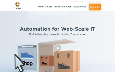 Screenshot of Home Page getchef.com - Chef - Code Can | Chef - captured July 17, 2014