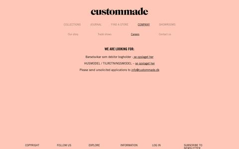 Screenshot of Jobs Page custommade.dk - Custommade – See the Autumn Collection 2014  | careers - captured Sept. 30, 2014