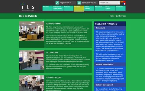 Screenshot of Services Page itoms.com - Our Services | ITS Plc - captured Oct. 6, 2014