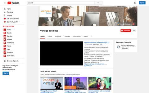 Vonage Business  - YouTube