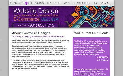 Screenshot of About Page controlaltdesigns.com - About | Control Alt Design - Memphis Website Design and Search Engine Optimization - captured March 4, 2016