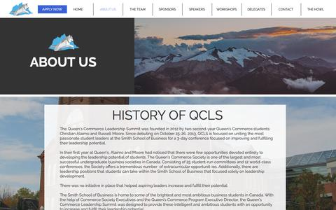 Screenshot of About Page qcleadershipsummit.com - qcls | ABOUT US - captured Sept. 30, 2018