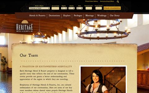 Screenshot of Team Page hhandr.com - New Mexico Vacation Resorts | Heritage Hotels & Resorts - captured Sept. 28, 2018