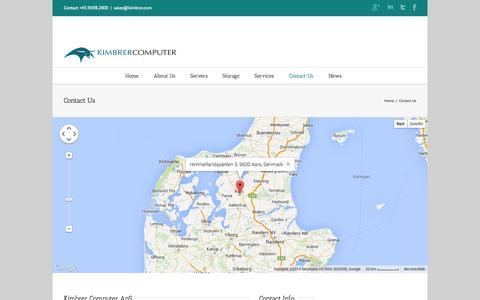Screenshot of Contact Page kimbrer.com - Contact Us | Kimbrer Computer ApS - captured Oct. 3, 2014