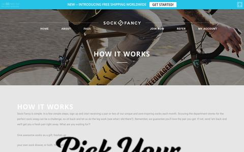 Screenshot of FAQ Page sockfancy.com - How It Works - Sock Fancy - captured Aug. 16, 2015