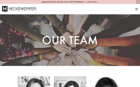 Screenshot of Team Page heckenkemper.com - Team — HECKENKEMPER - captured May 17, 2017