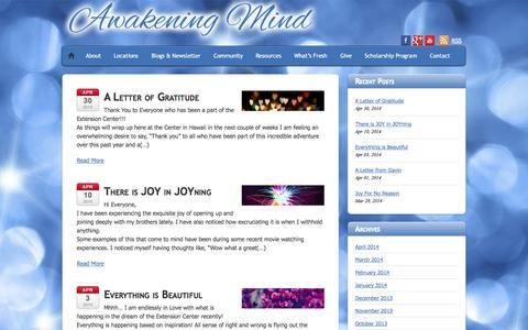 Screenshot of Blog awakening-mind.org - Foundation for the Awakening Mind - captured Oct. 1, 2014