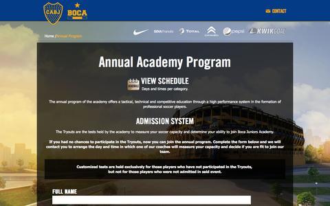 Screenshot of Signup Page usboca.com - Official site Club Atletico Boca Juniors - USA - captured Nov. 2, 2014