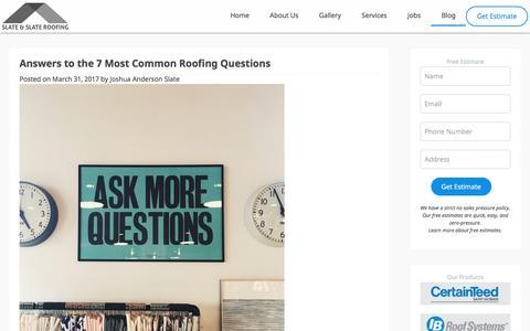 Salem Roofing Blog - Slate & Slate Roofing