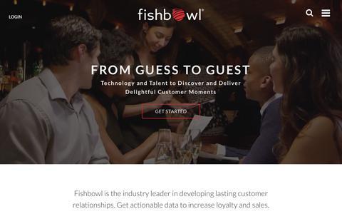 Screenshot of Home Page fishbowl.com - Fishbowl Marketing - captured Oct. 6, 2017