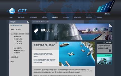Screenshot of Products Page gtt.fr - Bunkering solutions | GTT - captured Oct. 22, 2014