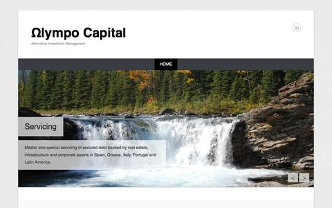 Screenshot of Home Page Menu Page olympocapital.com - Ωlympo Capital | Alternative Investment Management - captured Oct. 6, 2014
