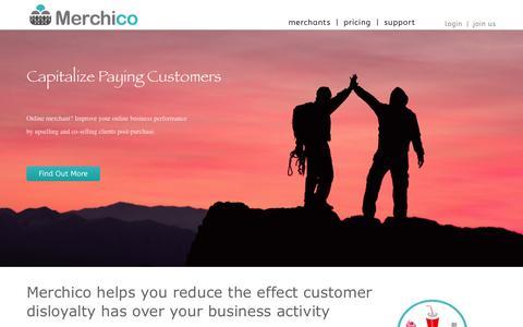 Screenshot of Home Page merchico.com - Merchico - captured Sept. 30, 2014