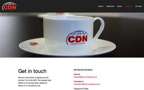 Screenshot of Contact Page cdn-consular.co.uk - Contact — CDN - captured Oct. 22, 2018