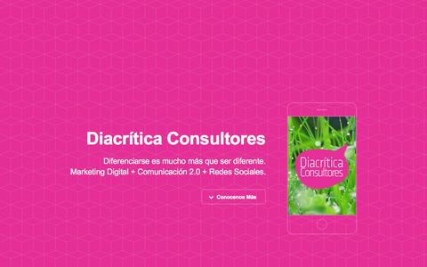 Screenshot of Home Page diacritica.com.ar - Diacrítica Consultores - captured Sept. 12, 2015
