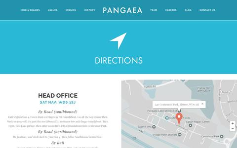 Screenshot of Maps & Directions Page pangaea.co.uk - Directions – Pangaea - captured July 13, 2017