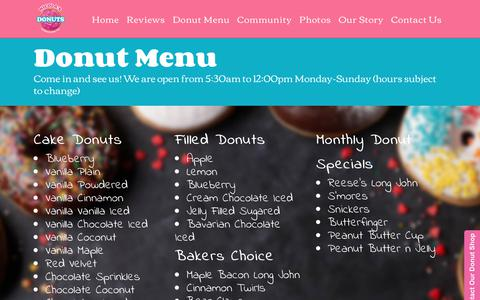 Screenshot of Menu Page nicolasdonuts.com - Donut Menu - Nicolas Donuts | Tampa Bay's Premiere Gourmet Donut Shop - captured Oct. 20, 2018