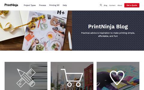 Screenshot of Blog printninja.com - PrintNinja Blog - PrintNinja - captured July 21, 2018
