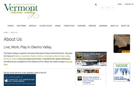 Screenshot of About Page yourplaceinvermont.com - About Us » Welcome to the Okemo Valley - captured Feb. 16, 2016