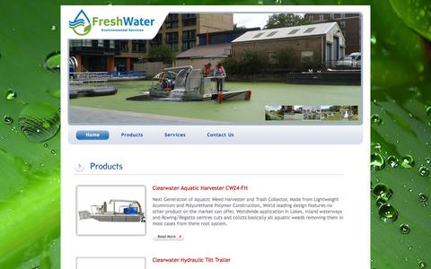 Screenshot of Products Page freshwateruk.co.uk - Freshwater Environmental - Products - captured Oct. 6, 2014