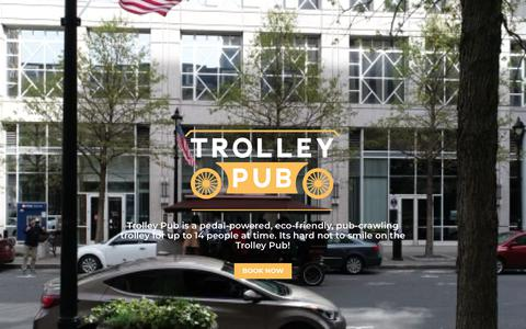 Screenshot of Home Page trolleypub.com - Trolley Pub | Bike Bar With Locations in North Carolina & Wisconsin - captured Oct. 14, 2018