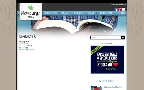 Screenshot of Contact Page newburghmall.com - Contact Us :: Newburgh Mall - captured April 2, 2017