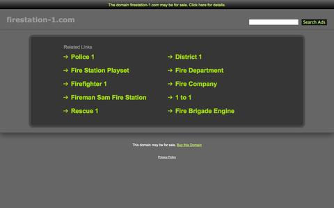 Screenshot of Home Page firestation-1.com - Firestation-1.com - captured Oct. 6, 2014