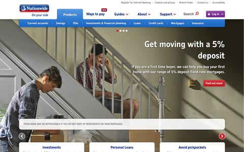 Nationwide: Savings, Mortgages, Current Accounts, Loans, Insurance