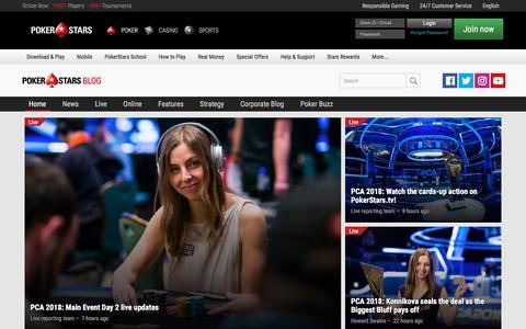 Screenshot of Blog pokerstars.com - PokerStars Blog - captured Jan. 11, 2018