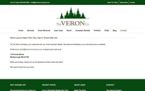 Screenshot of Contact Page theveroncompany.com - Contact | The Veron Company - captured Aug. 15, 2016