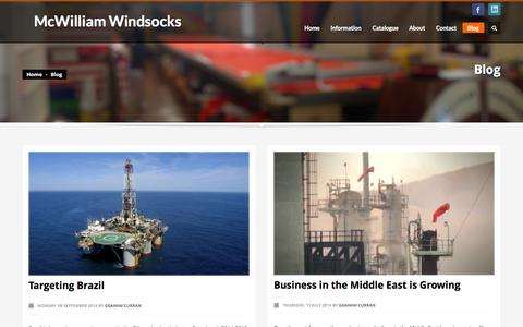 Screenshot of Blog mcwindsocks.com - McWilliam Windsocks | Blog - captured Oct. 27, 2014
