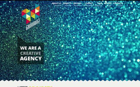 Screenshot of Home Page gamadigi.com - Gamadigi :: Digital Design Agency - captured Sept. 23, 2014
