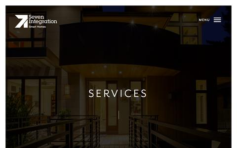 Screenshot of Services Page sevenintegration.co.uk - Home Cinema And Wireless Home Automation Services - captured Oct. 9, 2017