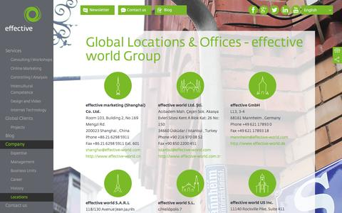 Screenshot of Locations Page effective-world.com - Global Locations - effective world Group  | effective world Group - captured Dec. 24, 2016