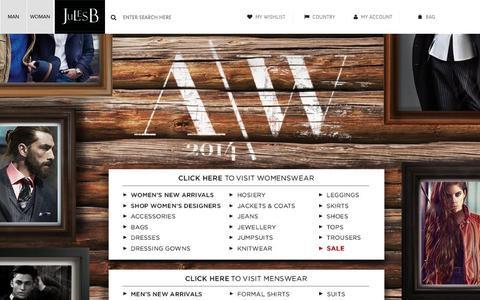 Screenshot of Site Map Page julesb.co.uk - New AW '14 Collections now available at Jules B - captured Oct. 23, 2014