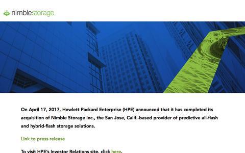 Nimble Storage - Company - Investor Relations