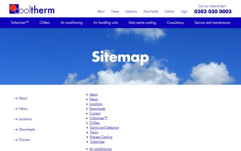 Screenshot of Site Map Page cooltherm.co.uk - Sitemap   Cool Therm - captured Dec. 12, 2015