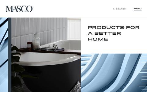 Screenshot of Home Page masco.com - Home - Masco - captured Feb. 26, 2020