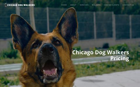 Screenshot of Pricing Page chicago-dogwalkers.com - Chicago Dog Walking Rates & Prices - captured Nov. 1, 2018